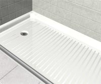 Accessible Shower Pans Shower Base Barrier Free Bathrooms